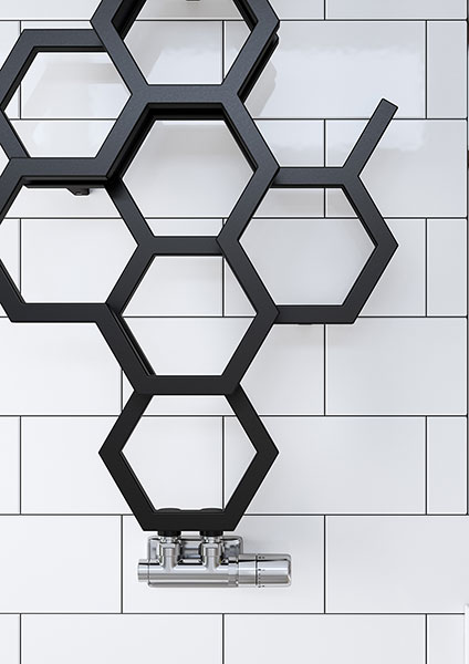 seche serviette hex sdb noir details