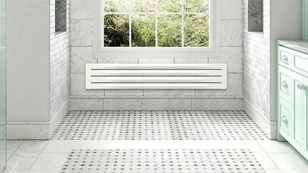 seche serviette horizontal aero blanc 5