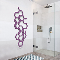 seche serviette design hex zx ral4008 situation