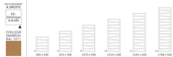 schema seche serviette ral1011 zigzage8