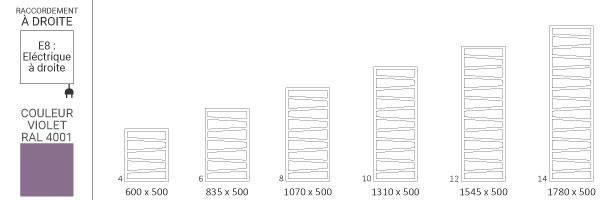 schema seche serviette ral4001 zigzage8