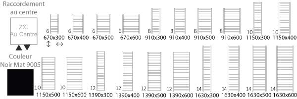 Schéma du sèche serviette chauffage central Vivo