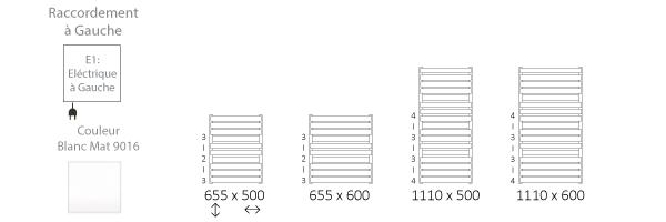 Schéma du sèche-serviette Electrique Warp T Bold