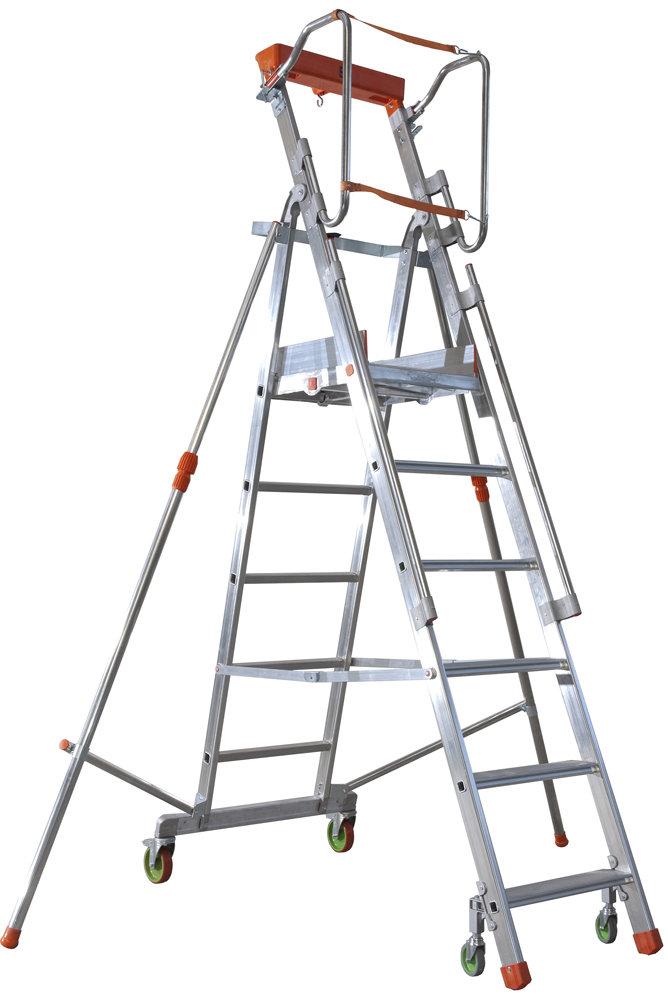 Fahrbare Stehleiter