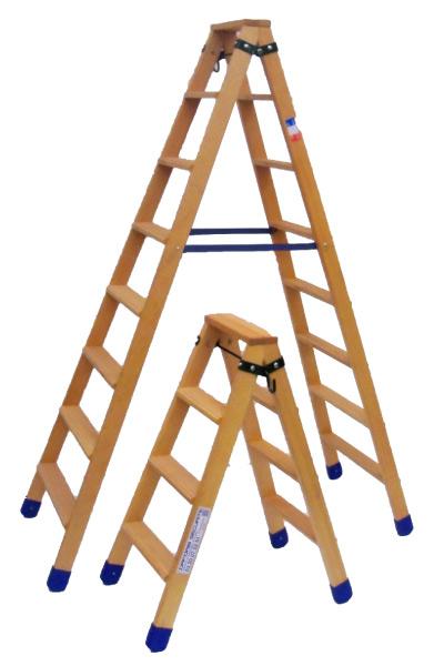 Stehleiter Holz Doppel