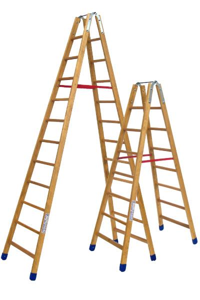 Stehleiter aus Holz