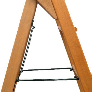 Stehleiter Holz ausgeklappt