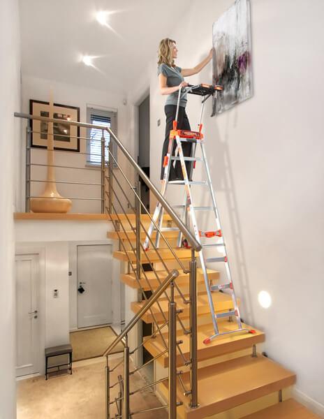 Arbeiten auf einer Treppe