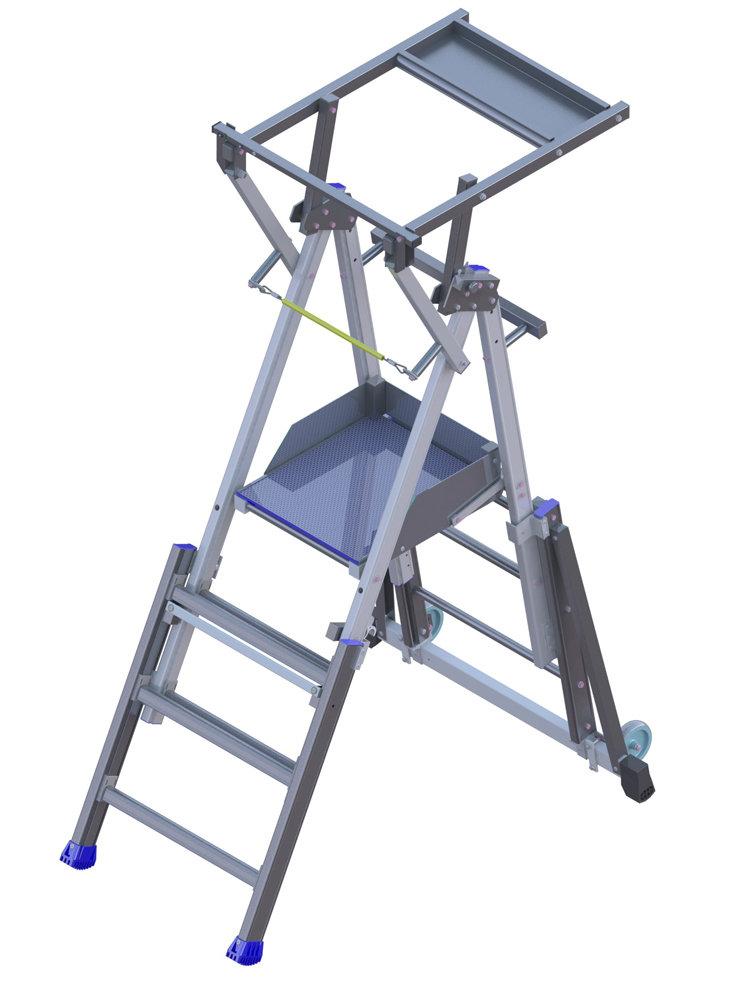 Stehleiter für Treppe