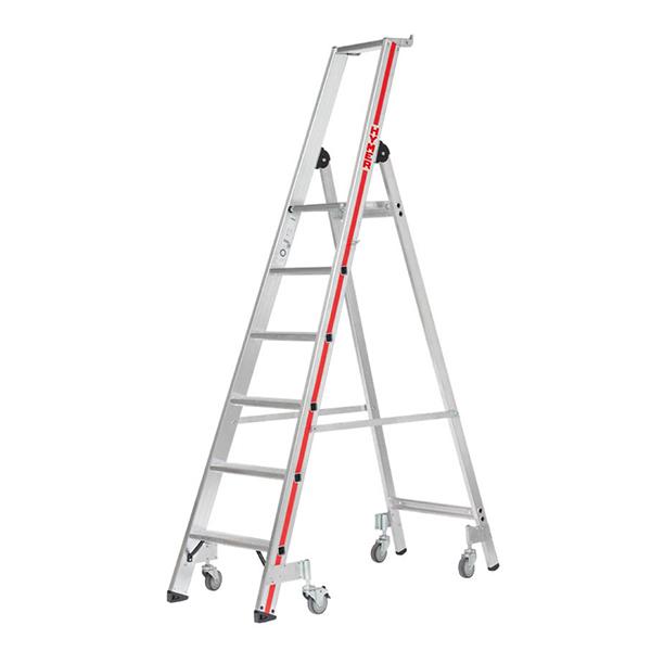 Stehleiter fahrbar 4 schwenkbare Rollen
