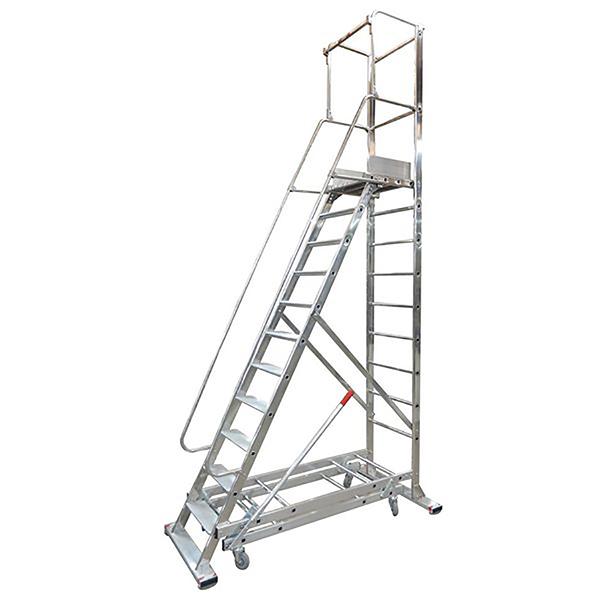 Stehleiter fahrbar picking 2