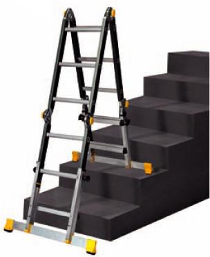 Stehleiter teleskopisch opti Treppe