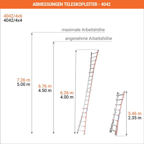 abmessungen teleskopleiter 4042