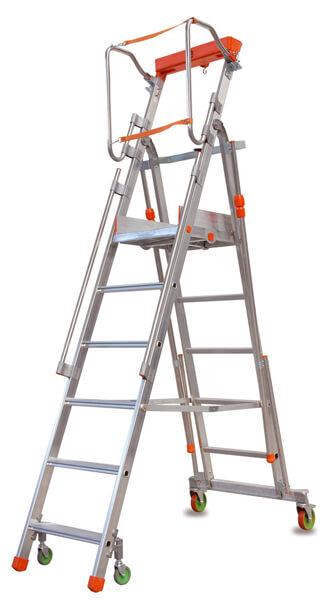 fahrbare Stehleiter leicht