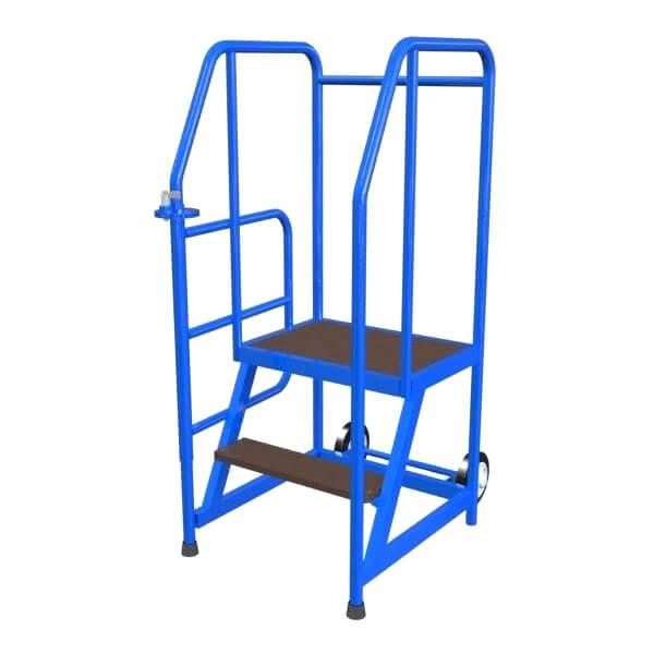 mobile Stehleiter  2 Stufen Schlupftür