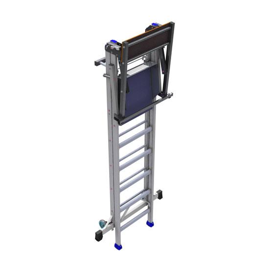 Mobile Podestleiter mit 8cm Stufen -  PIRL RM kompakt