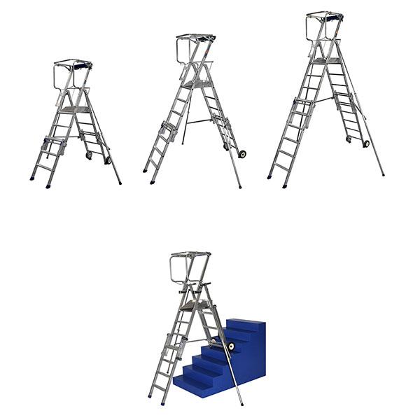 produktpalette podesttreppe teleskopische PIRLXT