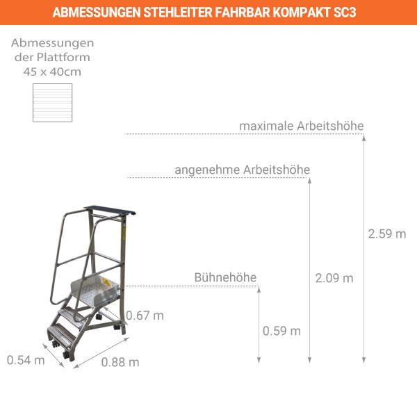 schema stehleiter fahrbar kompakt SC3