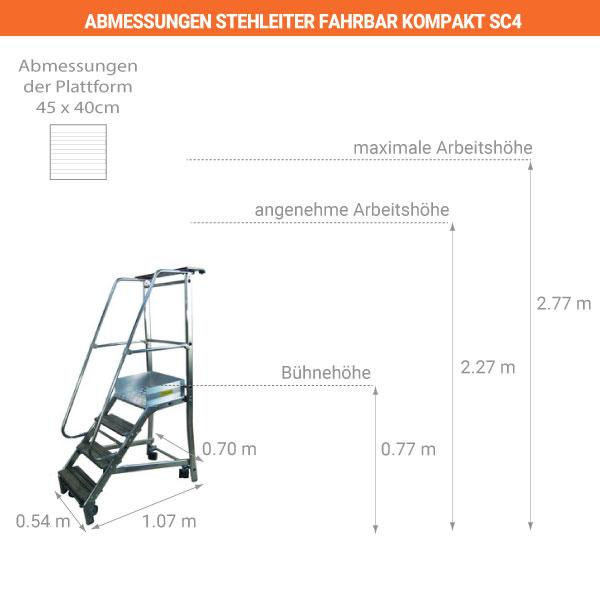 schema stehleiter fahrbar kompakt SC4