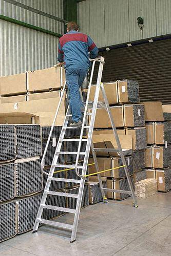 Stehleiter Industrie Alu