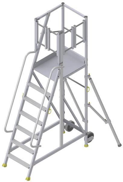 Stehleiter mit lateraler Zugang