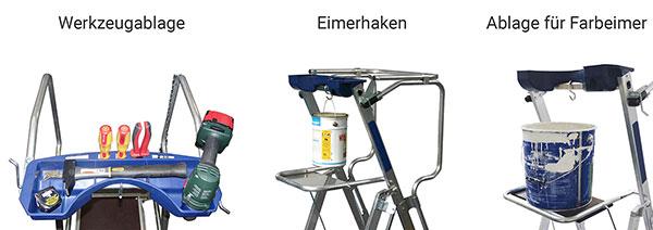 werkzeugablage podestleiter vollalu F2 F5