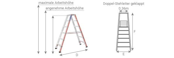 Schema der Doppel-Stehleiter 8024