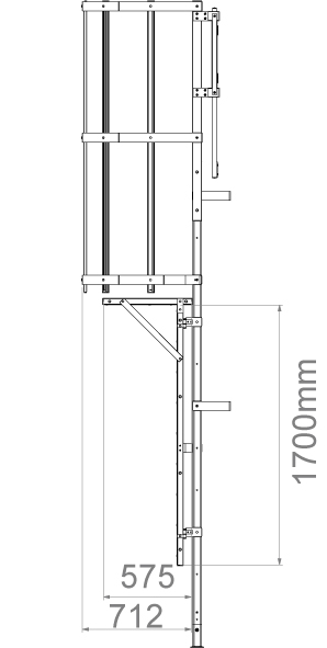 echelle crinoline avec porte