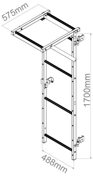 porte de l'échelle crinoline