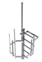 Steigleiter + ausfahrbare Geländerstange