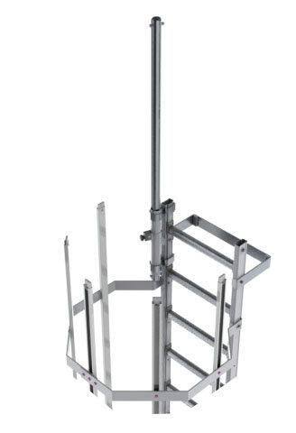 steigleiter ausfahrbare gelaenderstange