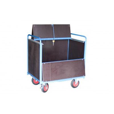Chariot conteneur fermé en bois