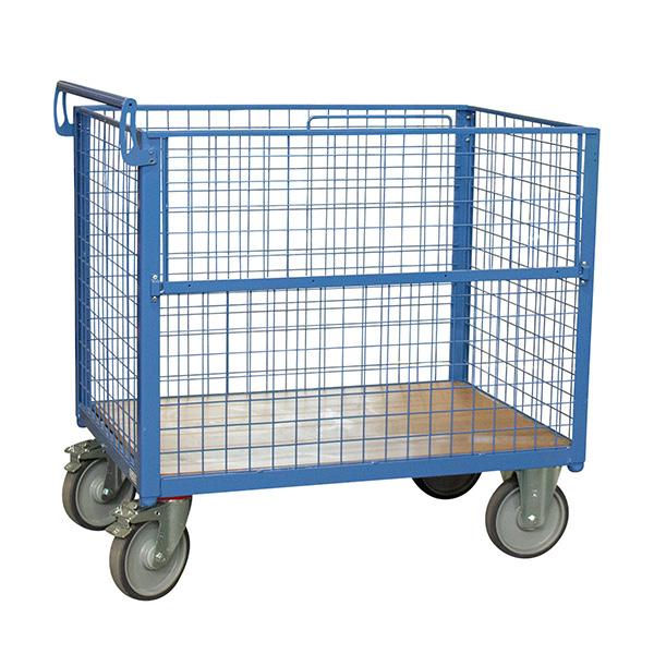 chariot conteneur grillage sans toit