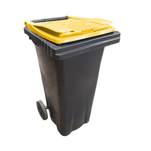 conteneur 120L couvercle jaune citron