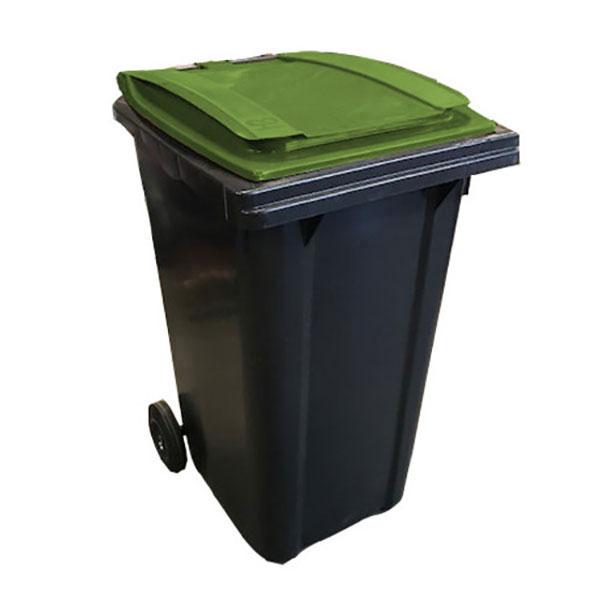 conteneur 240L couvercle vert kaki