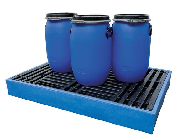 Plancher de retention polyethylene pour fut