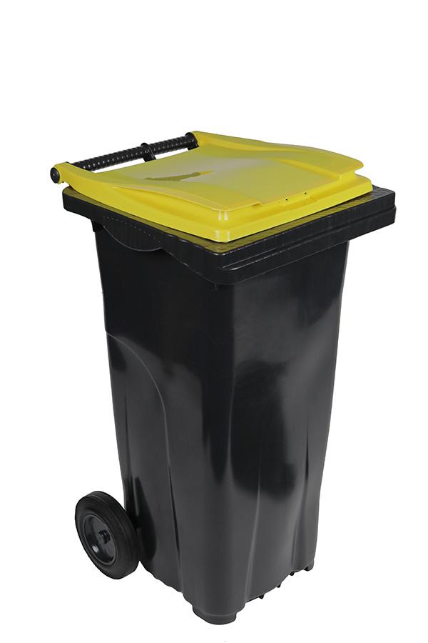 poubelle 120l jaune