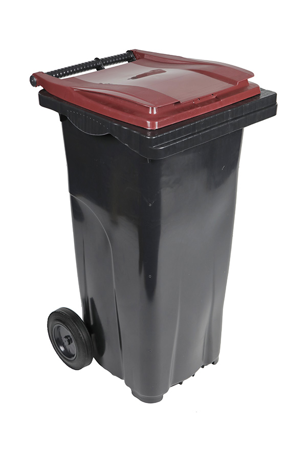 poubelle 140l bordeaux