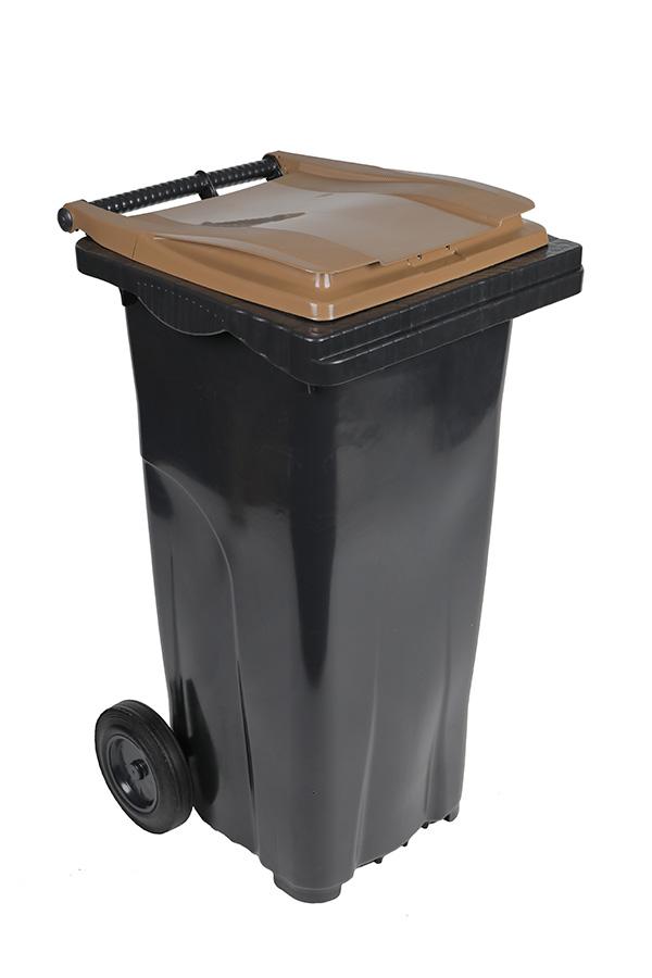 poubelle 140l marron