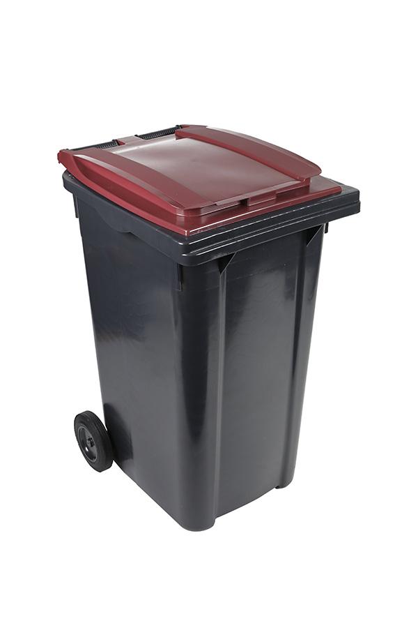 poubelle 240l bordeaux