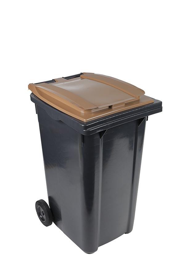 poubelle 240l marron
