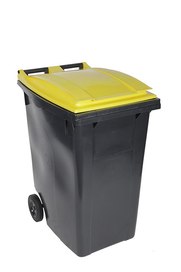 poubelle 360l jaune