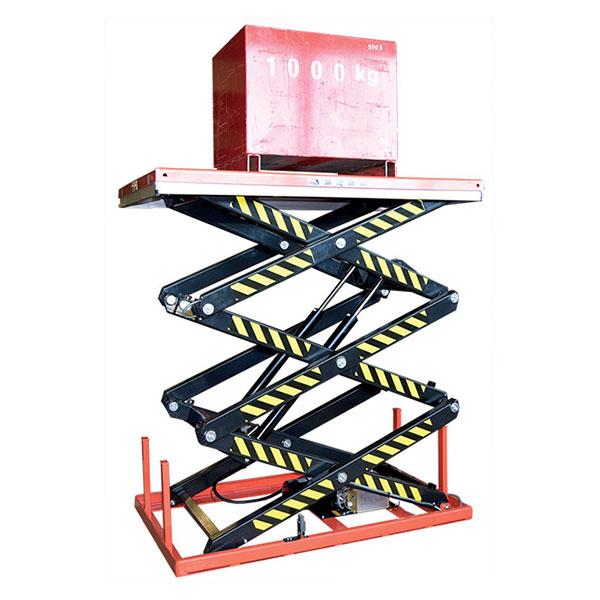 charge table elevatrice electrique trois ciseaux SHT