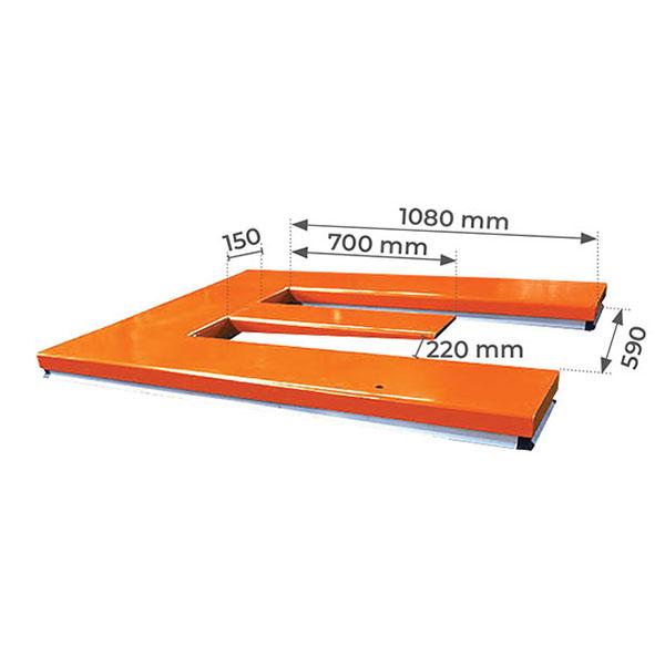 dimensions table elevatrice electrique plateau en e HE