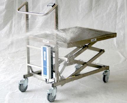 table élévatrice électrique inox