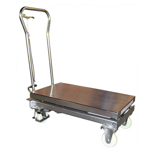 table elevatrice manuelle inox MH V pliee