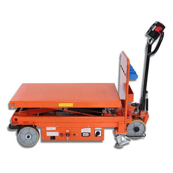 Table élévatrice électrique motorisée pliée