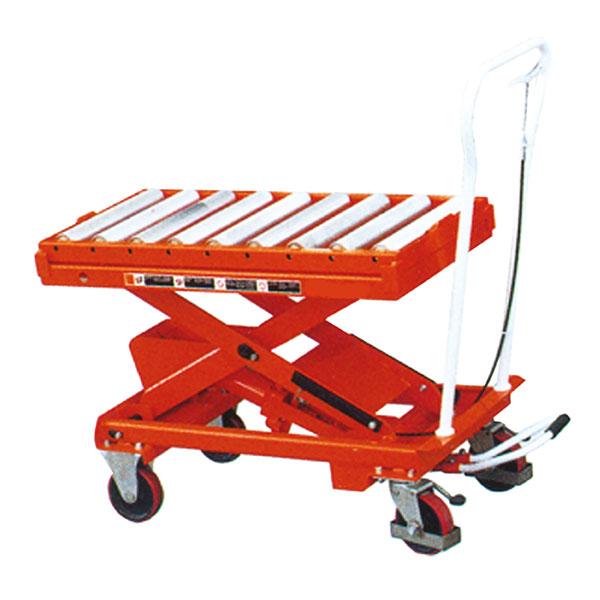 Table élévatrice avec plateau à rouleaux