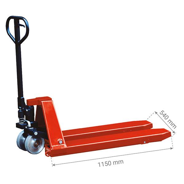 dimensions transpalette manuel 5 tonnes HP50S
