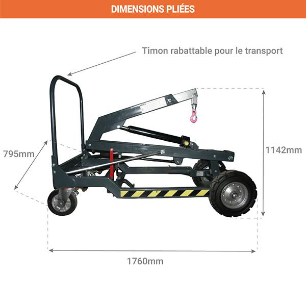 elevateur mobile pliee